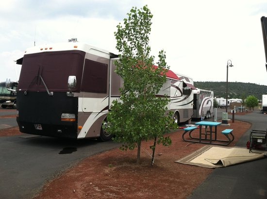 Grand Canyon Railway RV Park: Great location - level sites.