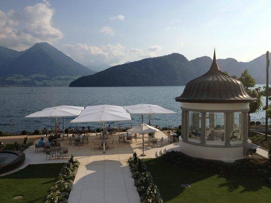 Park Hotel Vitznau: The terrace!