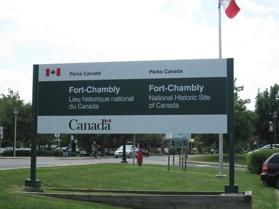Fort Chambly National Historic Site : sign