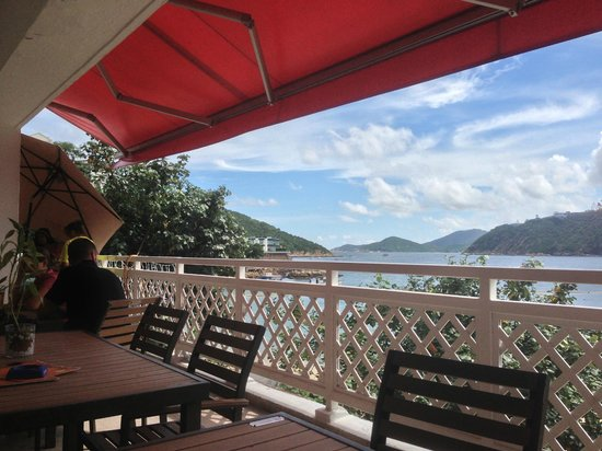Coco Thai, Hong Kong: View from dining area on veranda