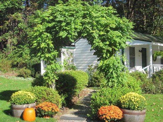 The Woodstock Inn on the Millstream : fall at the inn...