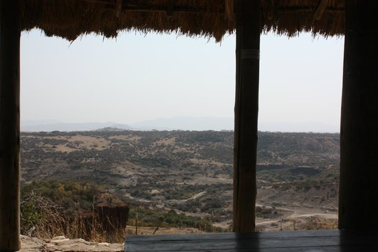 Olduvai Gorge Museum: view from information session