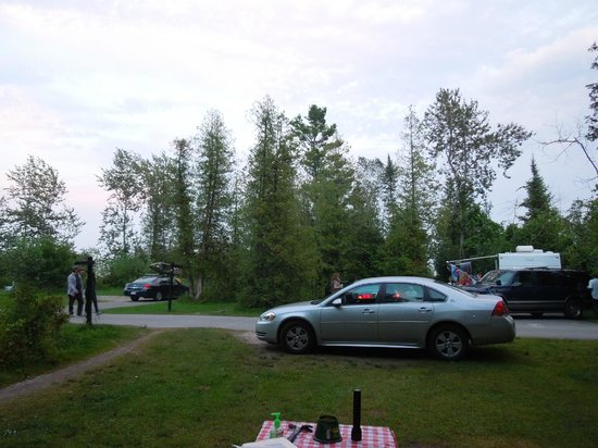 Harrisville State Park: View from our site #85
