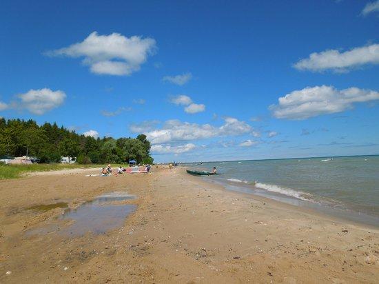 Harrisville State Park: Beach