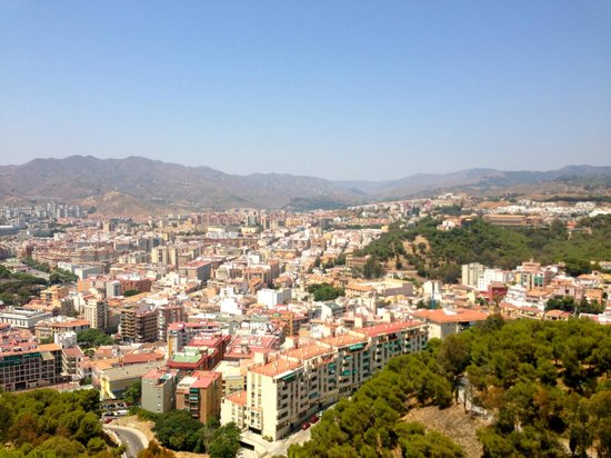 Castillo de Gibralfaro : View of Malaga