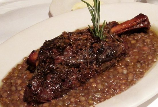 Trio: Lamb Shank braised in wine, rosemary and garlic ($18.95)