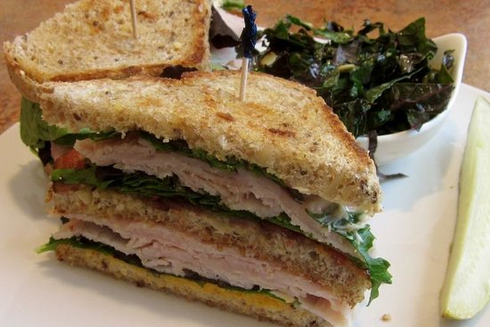 Bluefront Cafe: Mango Turkey Club ($9.95)