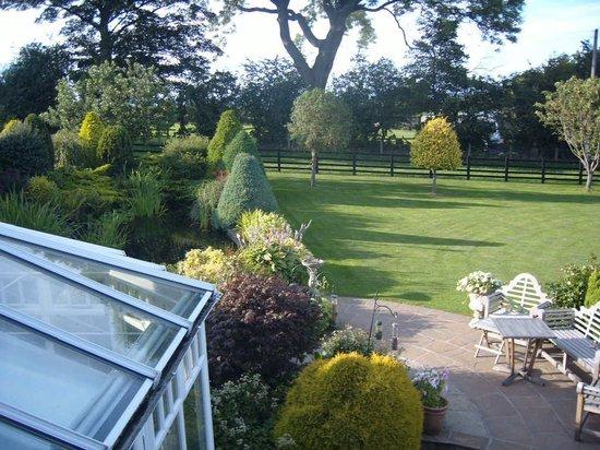 Mount Pleasant Farm B&B: View from bedroom window across garden