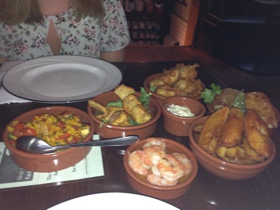 Riverside: Our selection of tapas dishes