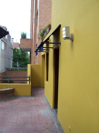 Hotel Emaus Bogota : balcony of the suite
