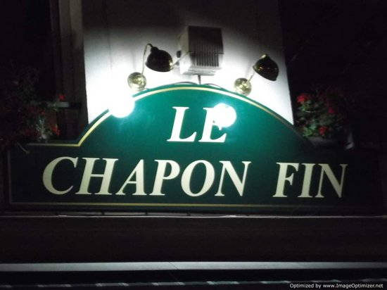 Sign for Le Chapon Fin!