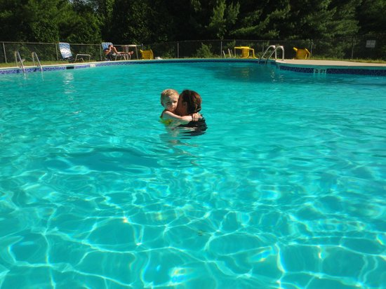 Rusnik Family Campground: grandson at the pool.
