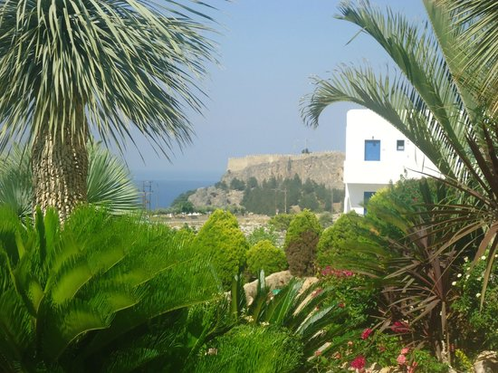 Lambis Studios: View from Balcony towards Lindos