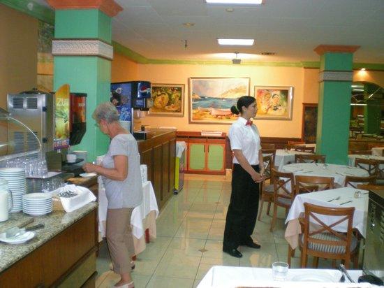 Hotel Vista Odin: Vue du restaurant.