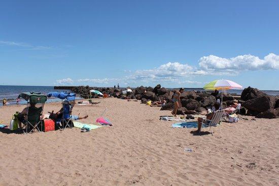 North Rustico Beach: Beach with pier