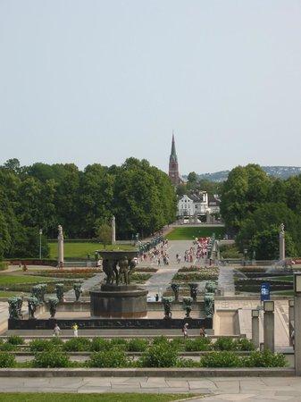 Vigeland Museum : Vue de l'esplanade