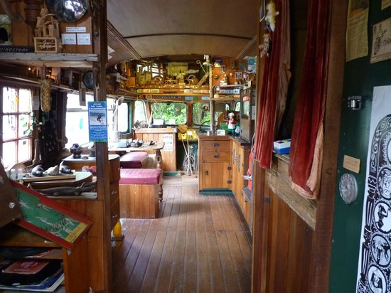 The Lost Gypsy Gallery: Looking into the Lost Gypsy Galley bus.