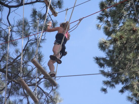 Flagstaff Extreme: Hardest part of the course...swings and rings....