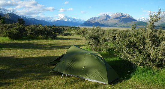 Mount Cook Glentanner Park Centre: view from tent