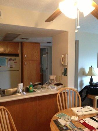 Deer Ridge Mountain Resort: From the front door toward bedroom