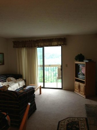 Deer Ridge Mountain Resort: from front door to sliding door and deck