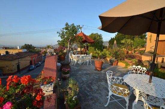 Hotel Azucenas: rooftop in the break of dawy