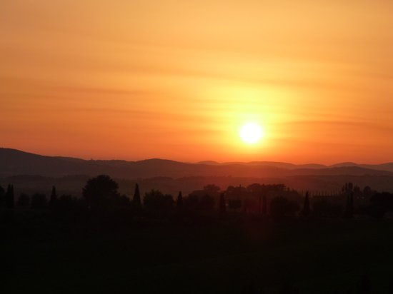 Podere Salicotto: Sunset