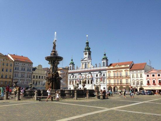 Kamil & Pavlina Prague Guide - Private Tours: Town square, Cesky Budejovice