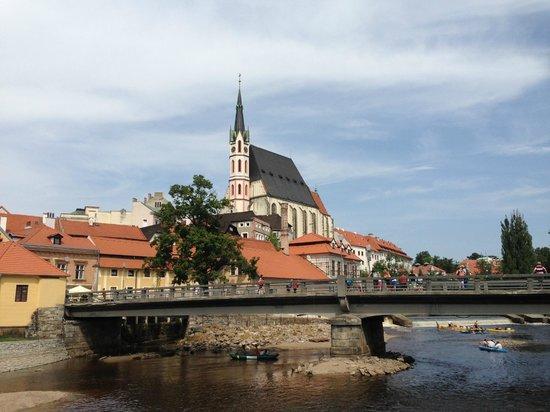 Kamil & Pavlina Prague Guide - Private Tours: Cesky Krumlov from below