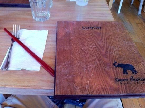 The Green Elephant: cool menu