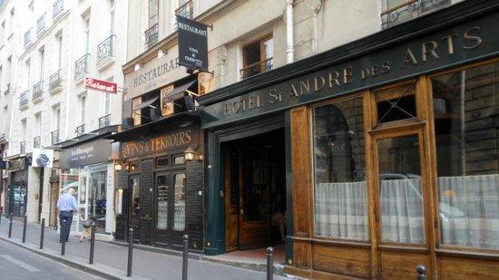 Facade Picture Of Hotel St Andre Des Arts Paris