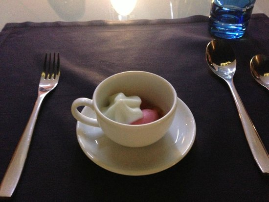 Blue Bay: Pré dessert