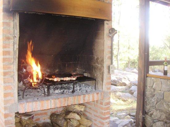 Monte Barranco : churrasquera al lado del deck