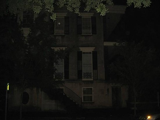 Blue Orb Savannah Ghost Tours: Blue orb in window? hmmm...