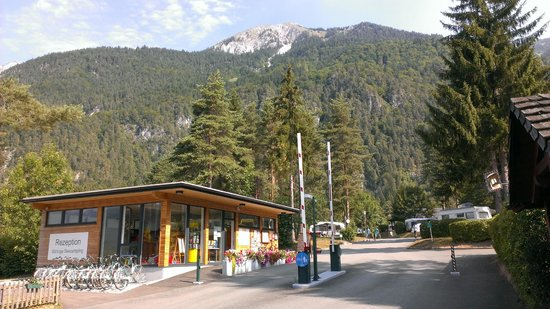 Naturpark Schluga Seecamping: De receptie van de Schluga Naturpark Seecamping