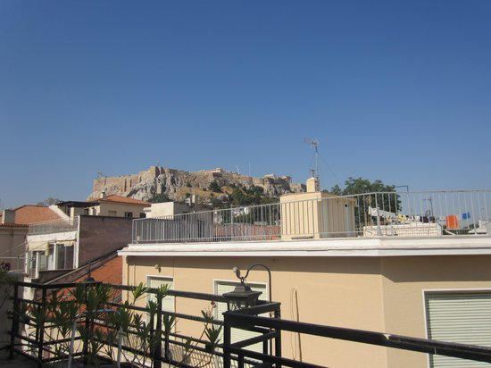 Kimon Athens Hotel: View from rooftop terrace (day)