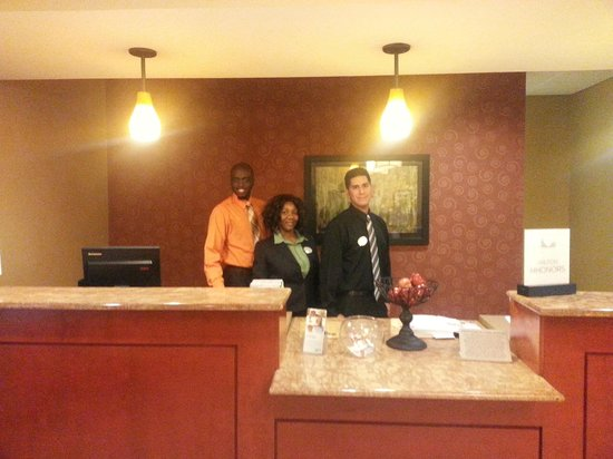 Homewood Suites West Palm Beach: Champion Front Desk - Joshua, Claudine, Juan