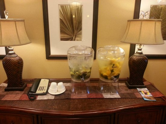 Homewood Suites West Palm Beach: Yummy Beverages for Guests in the Lobby