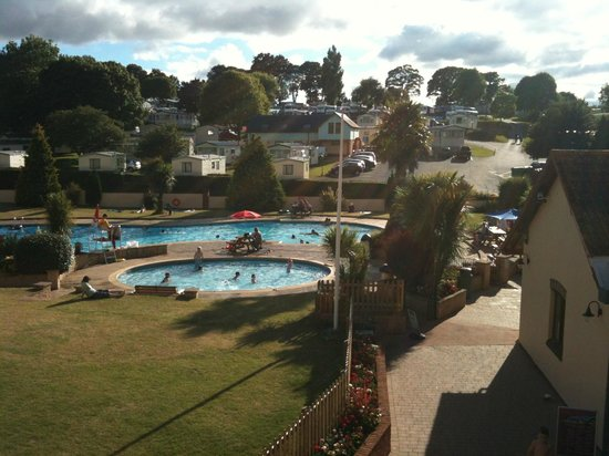 Cofton Country Holidays: view from balcony