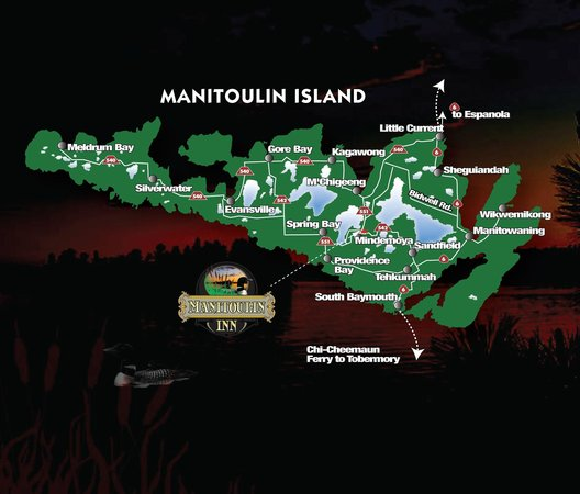 Map of the Island and to the Manitoulin Inn