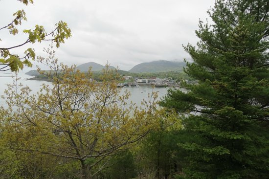 Land Bridge to Bar Island: Bar Harbor from Bar Island