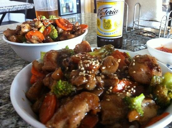 The Mongolian Grill: chicken bowl