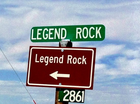 Legend Rock Petroglyph Site: The sign on the left side of the gravel Cottonwood Creek Road