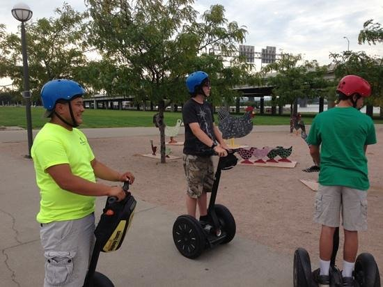 Louisville Segway Tours by Wheel Fun Rentals: downtown stop