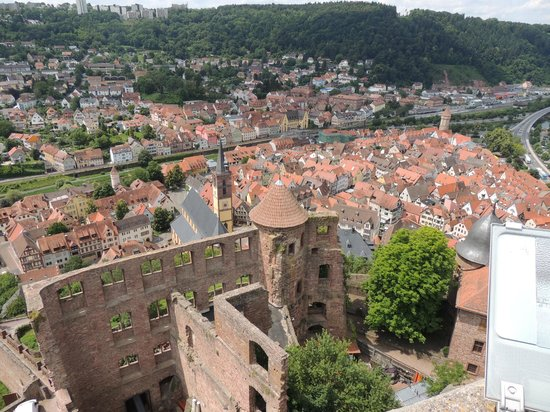 Burg Wertheim: From the keep looking into the old castle