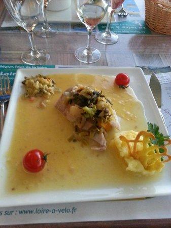 Hotel au Poisson d'Argent : plat