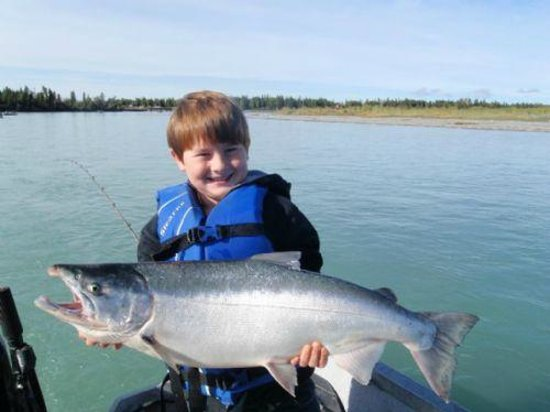 ‪‪Kenai Riverfront Resort‬: Silver Salmon fishing is excellent in August & September.‬
