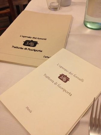 Polverara, Italy: Menú e carta dei vini
