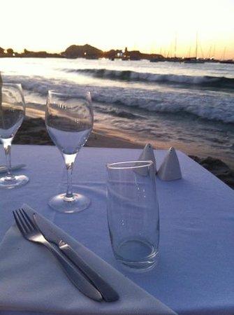 Restaurant le Marinella : Dîner les pieds dans l'eau