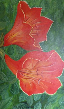 The African Tulip: detail